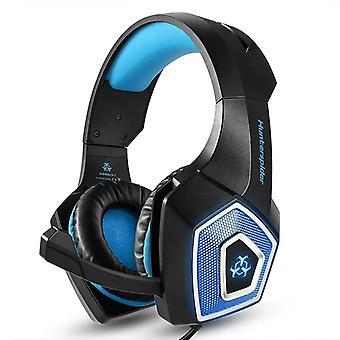 Game headset large rgb light-emitting wired headphone
