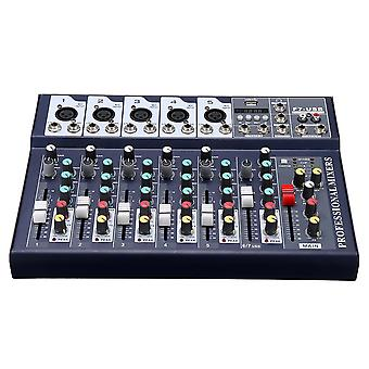 7 Channel DJ Audio Mixer bluetooth USB Reverb Effect Mixing Console Amplifier for Tiktok Youtube Liv