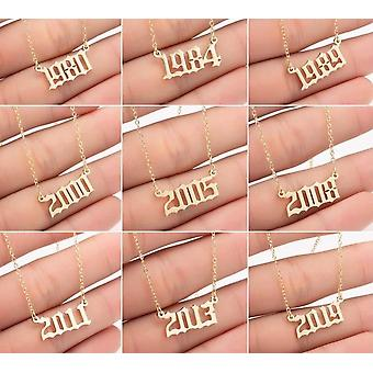 Year Number Necklaces