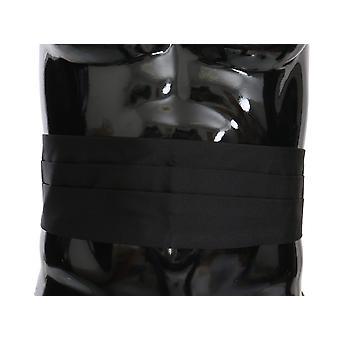 أسود الرجال حزام الخصر 100٪ الحرير Cummerbund