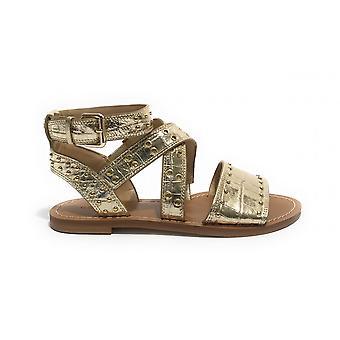 Shoes Guess Sandalo Cevie Ecopelle Coconut Platinum Ds21gu30 Fl6cvelem03