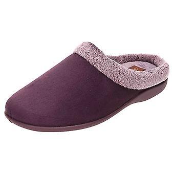 JWF Memory Foam Slippers Mules Clogs Purple