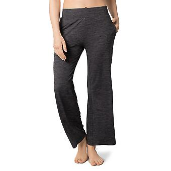 Womens Knit Comfy Stretchy Pull On Pajama Pants Wide Leg