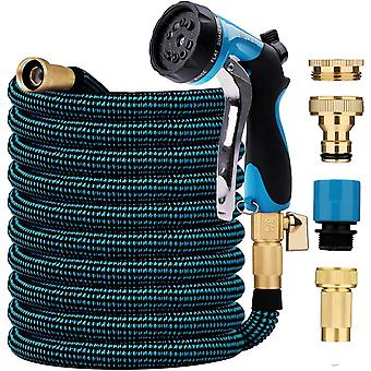 BFULL 100FT 30M Garden Hose, Expandable Water Hose with 10-Function Spray Nozzle, Durable Strength