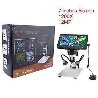 2021 أحدث 12MP dm9 HD 7 بوصة الشاشة 1200x المجهر الرقمي المكبر الصناعي مع التحكم في الأسلاك، ومناسبة لipad فون