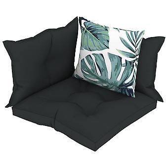 vidaXL pallet divano pad 4 pcs. tessuto antracite