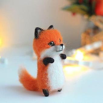 Fashion Siamese Hawksbill Tabby Civet Cat Kitty Wool Doll Handmade Kit