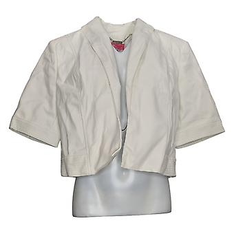 Isaac Mizrahi Live! Vrouwen>Apos;s Jacket Faux Leather Cropped White A374896