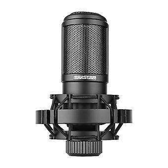 Side-address microfoon bedrade condensor microfoon cardioïde pickup patroon met schokbevestiging en statief