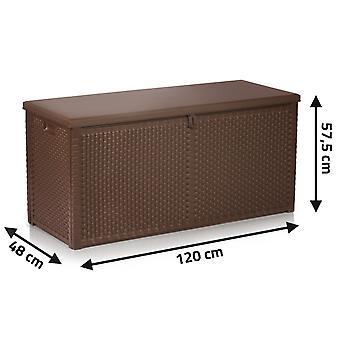 Pudełko do przechowywania w ogrodzie - 120x57,5x48 cm - 300 litrów - brązowy