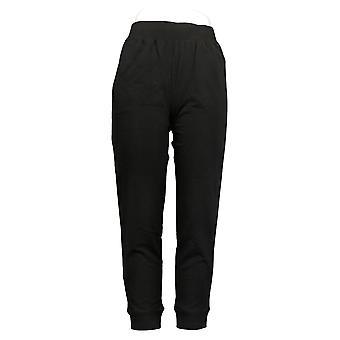 Denim & Co. Women's Pants Active Pull-On Knit Jogger Black A300834