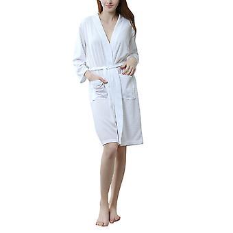 YANGFAN Women's Pajamas Housewear 3/4 Sleeve Sleepshirts with Belt and Pockets