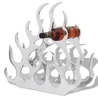 vidaXL bottle rack for 11 bottles of silver aluminum