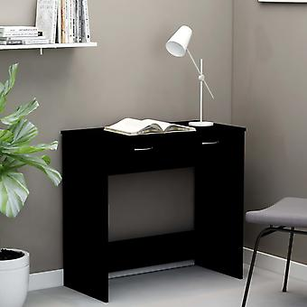 vidaXL Bureau Noir 80×40×75 cm Panneau de particules