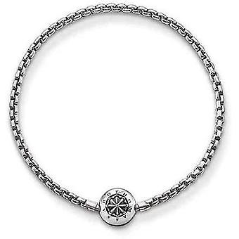 FengChun Damen Herren-Armband Karma Perlen 925 Sterling Silber geschwrzt KA0002-001-12