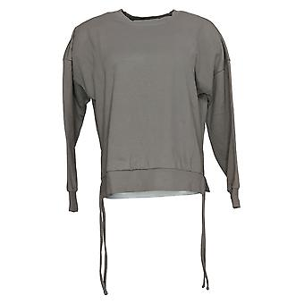 AnyBody Women's Sweater Reg Cotton Pullover Gray A377742