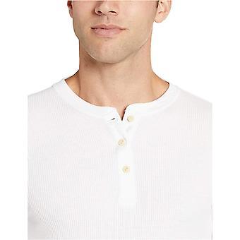 Essentials Men's Slim-fit Long-Sleeve Waffle Henley
