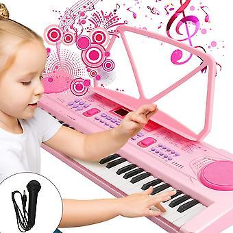 FengChun Kinder Keyboard, Multifunktions Digital Piano 61 Tasten Keyboard Set mit Mikrofon