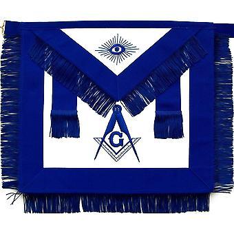 Masonic master mason niebieski fartuch z frędzlami