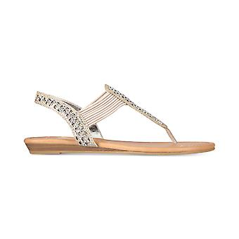 Material Girl Womens Siera Open Toe Casual Slingback Sandals