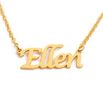 Kigu - Ellen Namn Halsband, Guldpläterad 18 kt