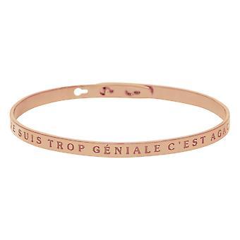 I AM TROP GÉNIALEED AGANCING- apos; braccialetto messaggio rosa