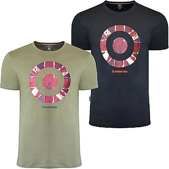 Lambretta Mens Vintage Target Crew Neck Cotton T-Shirt Tee Top
