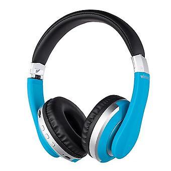 Blauwe draadloze hoofdtelefoon Bluetooth Headset opvouwbare stereo gaming oortelefoons ondersteuning TF-kaart