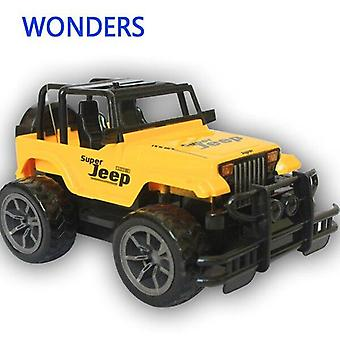 1:24 Jeep large remote control cars 4CH remote gift|car remote control|car toy remote(Yellow)