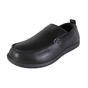Crocs Mens Tummler Leather Slip Resistant Work Shoes
