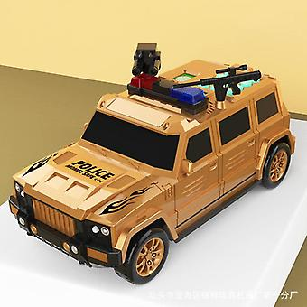 Piggy bank for kids coin money atm birthday hummer bank note transport car rechargeable cq14