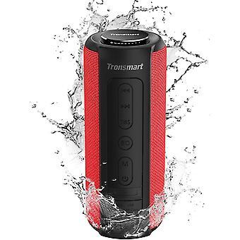 Głośnik Bluetooth Tronsmart T6 Plus 40W, przenośny głośnik zewnętrzny z powerbankiem, 15 godzin odtwarzania, wodoodporny IPX6, potężny głośnik TWS Stereo i bass, głośnik Bluetooth 5.1, zestaw głośnomówiący, czerwony