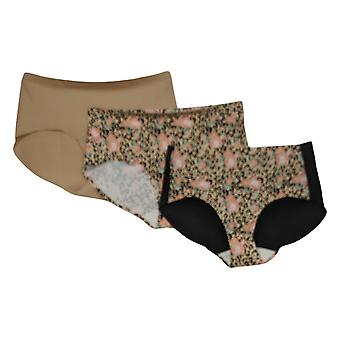 Rhonda Shear Mutandine 3-pack Invisible Body Brief Brown 715480