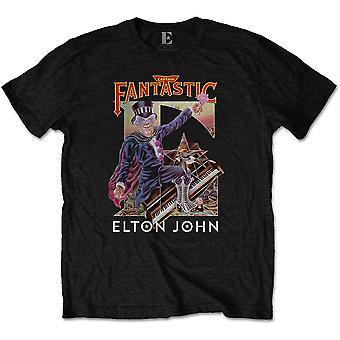 Elton John - Captain Fantastic Miesten XX-Large T-paita - Musta