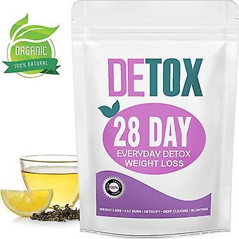 28 يوم فقدان الوزن الشاي إزالة السموم التطهير والتخسيس teatox