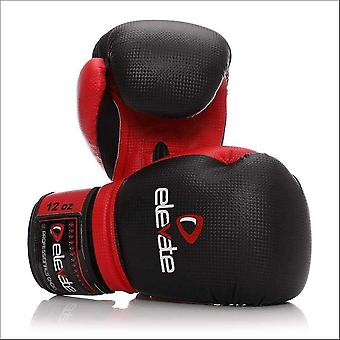 Elevate carbon boxing gloves - black red