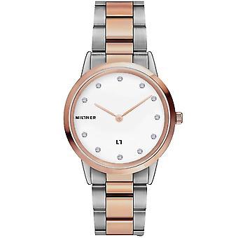 Millner Co 06103 Chelsea Small Diamond Två tonar silver & rose guld damer klocka