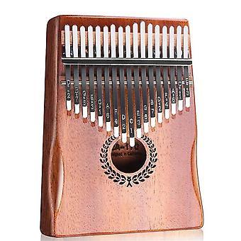 Kalimba thumb piano 17 keys with mahogany wood portable mbira finger piano gifts
