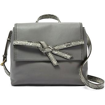 Fossil Willow Leather X-body Pewter Python Gray Handbag SHB2344044