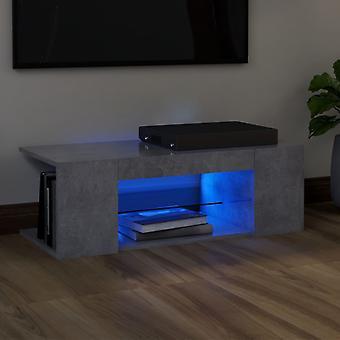 vidaXL TV-kaappi LED-valoilla betoni harmaa 90x39x30 cm