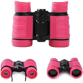Binocolo per bambini binocolo giocattoli 4x30 per età 3 4 5 6 7 8 anni regali per bambini,(rosa)