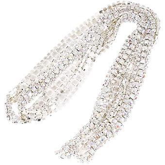 Strass Band, 97 * 1 cm 3 Reihen Diamant Mesh Wrap Rolle Sparkle Kristall Diamant-Rollen Dekoband