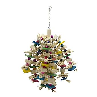 Large Parrot Toys Natural Wood Large Bird Toy For Parrots Macaws Cokatoos African Grey|Bird Toys