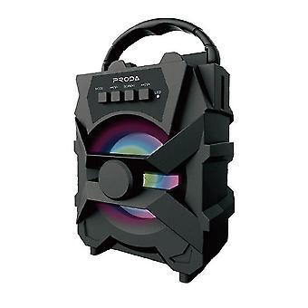 PRODA portable Bluetooth 5.0 speaker to follow sound(Black)