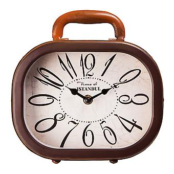 Xoom Suitcase Table Clock, Decorative Table Clock , Office Decoratiok, Antique Dial