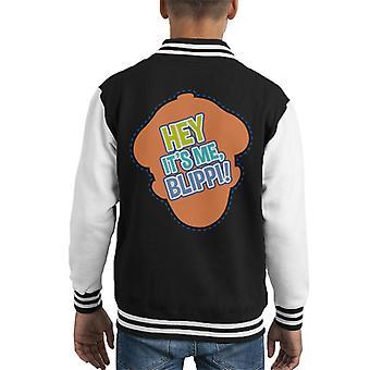 Blippi Hey Its Me Blippi Kid's Varsity Jacket