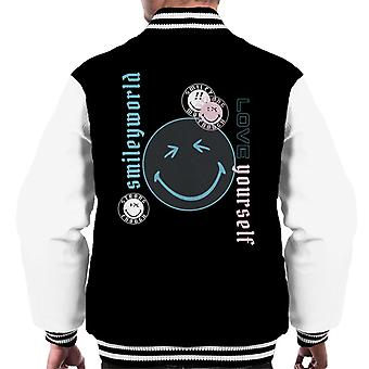 Smiley World Love Yourself Men's Varsity Jacket