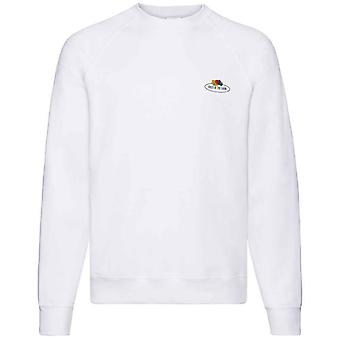Fruit of the Loom Mens Vintage Small Logo Printed Raglan Sweatshirt
