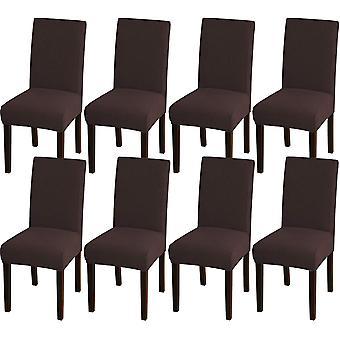 Matsalsstol täcker stretch stolskydd för matsal köksstol täcker avtagbara stolskydd för matsal, hotell, brun