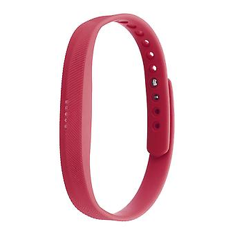 2 Pcs Silicone Strap Replacement Watch Band for Fitbit Flex 2 RED COLOUR